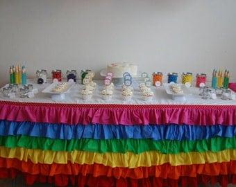 Custom Boutique Ruffle Tablecloth