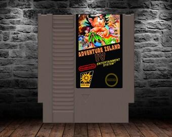 Adventure Island IV - Tropical Platforming Action Title - NES - English Translation