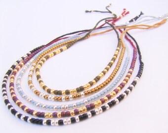 OUTLANDER SET - Morse Code Bracelet - Outlander Jewelry - Morse Code Jewelry - Outlander Bracelets - Bracelet Sets