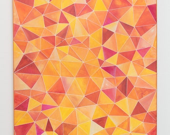 Original Geometric Abstract (Orange Spectrum)