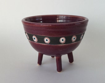Purple Bowl with Legs