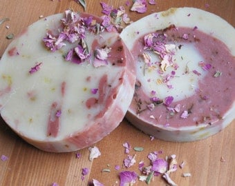 Lemon Rose Soap, locally made in winnipeg MB, cold process soap, all natural handmade soap, art soap, lemon rose, elegant soap, pink clay