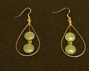 Green Adventurine tear drop Earrings