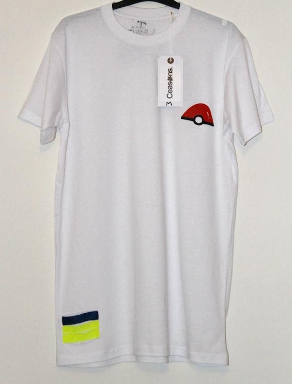 Nintendo Pokemon Go Yeezy Distressed LongLine White T-Shirt