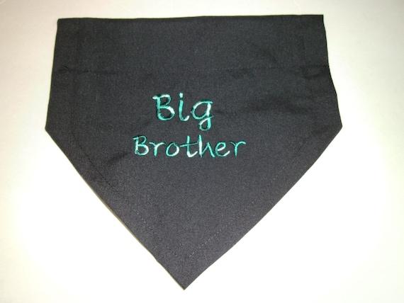 Big Brother Dog Bandana Pregnancy Personalized Variegated