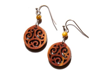 Cedar Lace Cut Earrings