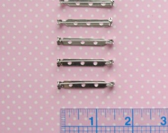 5 Brooch Backs 1.5"