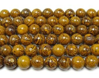 Elephant Skin Jasper Round Gemstone Beads