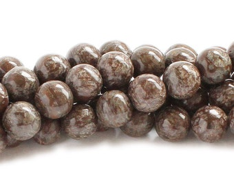 Chocolate Jasper Round Gemstone Beads