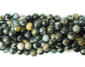 Australian Gray Opal Round Gemstone Beads