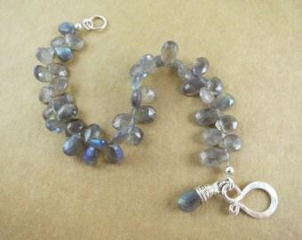 Faceted Labradorite Gemstone Bracelet