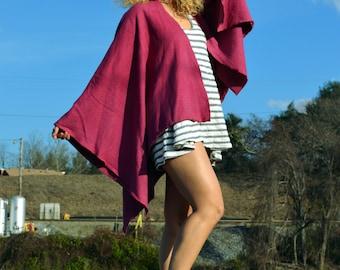 Ruana wrap in Organic hemp fleece. Made to order.