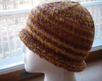 Handspun Handknit Warm Wool Hat