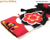 Sale 25% OFF Large Knitting Needle Case - Kleo - black pockets for all sizes, straight, circular or paint brushes