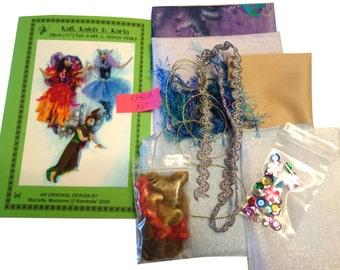 "PATTERN for 3 Fairies, Elf, KIT, Supplies to make KARLA, 11"" (28 cm), Tutorial, Doll making, Cloth Dolls, Workshop, Michelle Munzone, kids"