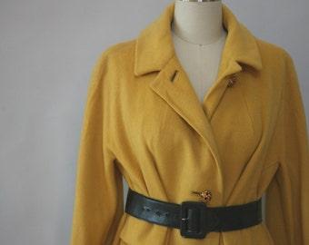 mustard coat vintage