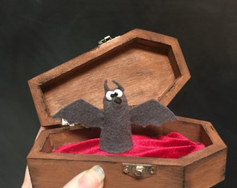 Sam the Vampire Bat with Coffin