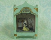 MiniatureToy Theater Vignette in Pale Green