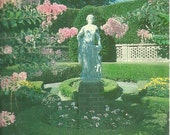 Vintage 1970s Postcard North Carolina Outer Banks Elizabethan Gardens Dare Coast Scenic Statue View Photochrome Era Postally Unused