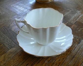 SALE Victoria Fine China Teacup & Saucer