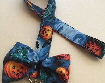Fabric Neck Lanyard, Pumpkin Cute Lanyard, Bow Lanyard for ID Cards and Badges