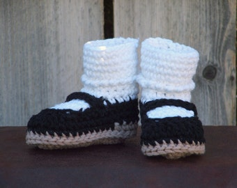 Black Mary Jane Booties, size Small (6 month)