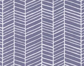 Herringbone in Gray/Grey / True Colors by Joel Dewberry /  1 yard Cotton Quilting / Apparel Fabric