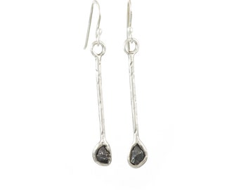 Meteorite Earrings - Size Large - Made to Order