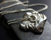 Recycled Sterling Silver Necklace, Rough Sterling Nugget Necklace, Organic Silver Necklace, Textured Silver Necklace, OOAK Artisan Silver