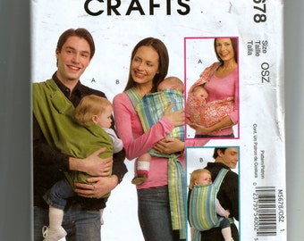 McCall's Baby Carriers Pattern 5678