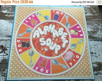 30%OFF SUPER SALE- Vintage Game Board-Book Making-Supplies-Altered Art-Mixed Media-Alphabet Soup