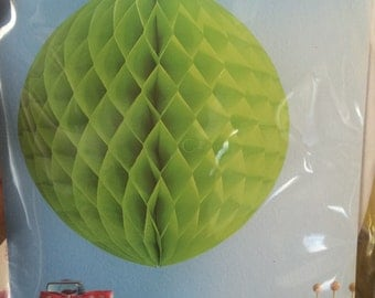 Lime Green Honeycomb Sphere