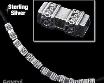 13mm Sterling Silver Decorative Rectangle Bead #BSI001