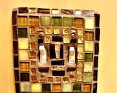 New! Fabulous JEWELED  Mosaic ART light switch cover