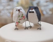 Wedding cake topper birds - Vintage style wedding
