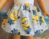 American Girl Doll Clothes  Silly Minion Skirt V2