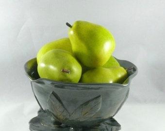 Ceramic Colander, Pottery Fruit Bowl, Prep Bowl, Handmade Ceramic, Kitchen Berry bowl, Berry Bowl Colander, Pottery Strainer, Green Sieve