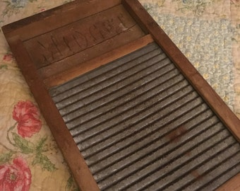 Vintage Midget Washboard National Washboard Co. No. 442