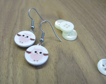 Jewelry with owl |  Earrings with a cute owl of your choice! Perfect gift for you, a sister, coworker, a teen