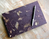 CUSTOM SIZE Wedding Guest Book, Dark Purple, unlined CUT pages
