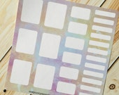 Jewel Colored Splatter Sticker Set for Erin Condren (ID468)