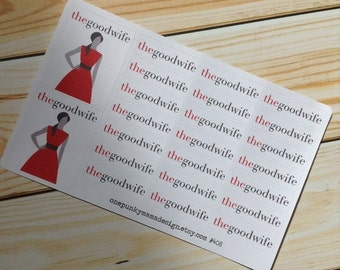 ON SALE The Good Wife Stickers for Erin Condren (ID408)