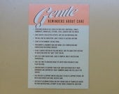 Gentle Reminders About Care Postcard