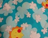 Sun and Clouds Nursery fabric Cotton Kids Print Fabric