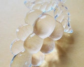 3 pcs. acrylic transparent clear grape cluster pendants charms 41x27mm - f5189