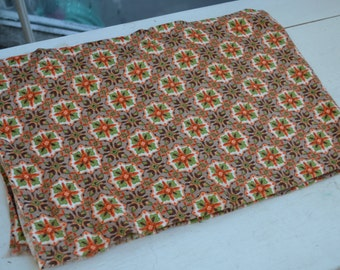 Vintage Fabric, Fabric, Retro Fabric, Geometric Fabric, Pattern Fabric, Cotton Fabric, 1960's Fabric