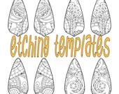 Digital Pattern for Etching Tear Drop Earrings Download DP 8865-3