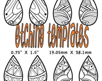 Digital Pattern for Etching Tear Drop Earrings Download 3449 2 drop
