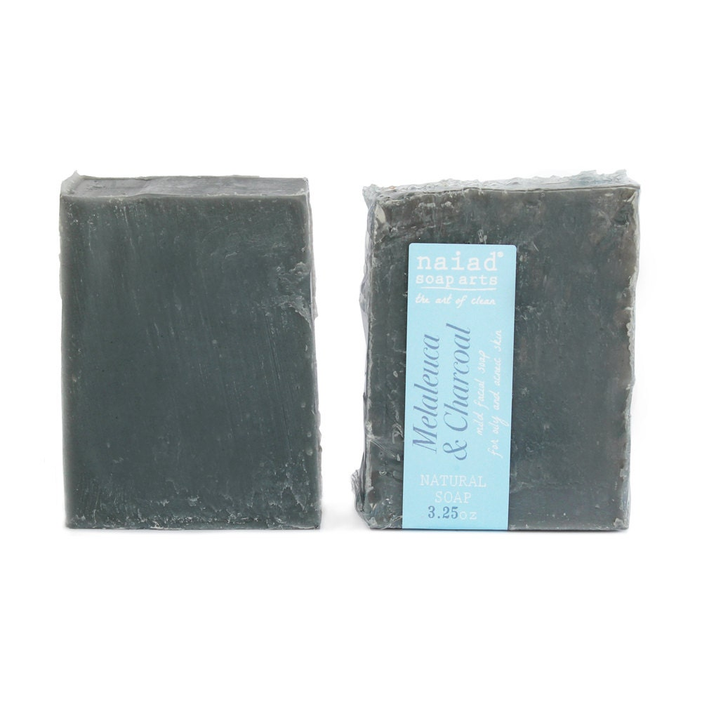 Melaleuca And Charcoal Olive Oil Facial Soap Tea Tree Soap