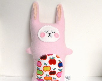 READY TO SHIP Plush Bunny Rabbit, Plush Baby Toy,  Softie Rabbit Doll Stuffed Animal - Baby Gift